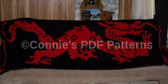 Beautiful Chinese Dragon Blanket Pattern.