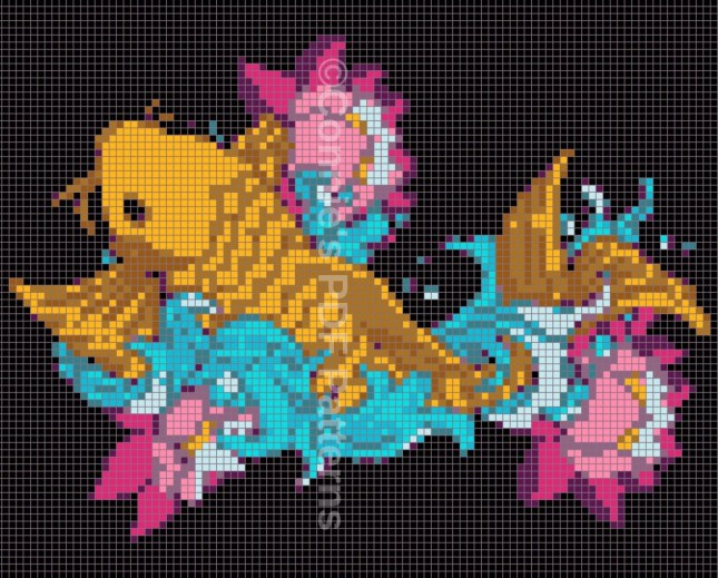 Graph-Koi Fish-WM-1